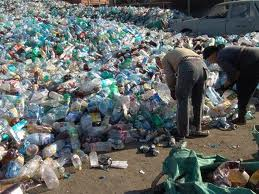 Bottled Water in Landfill